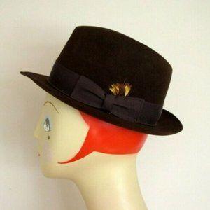 Biltmore Canadian Suede Fedora Hat in Black Oak